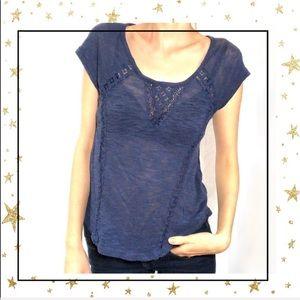 Aeropostale Blue short sleeve women's Med  t-shirt
